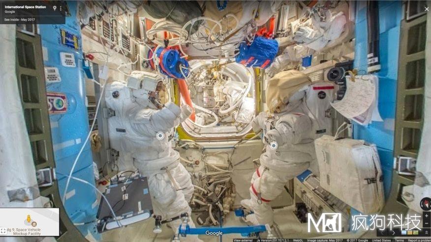 谷歌街景,你可以360°畅游国际空间站!